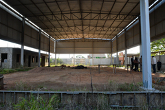 Visita à EMEF Prof. Gilberto Jorge. Na foto, a quadra poliesportiva.