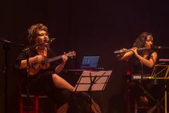 Grupo musical As Tubas se apresenta na IV Mostra de Artes Cênicas e Música do Teatro Glênio Peres.