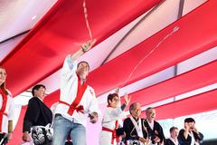 Presidente Valter Nagelstein participa da cerimônia de abertura do 7º Festival do Japão do RS.