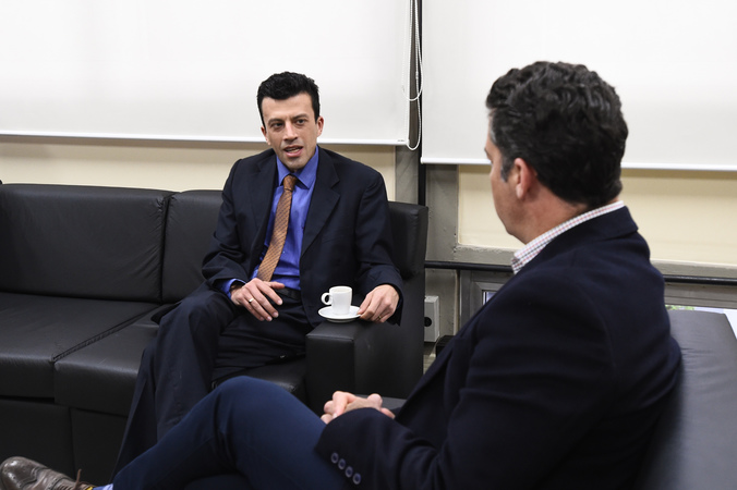 Presidente recebe o vereador de Campo Bom, Paulo Tigre