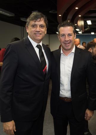 Abertura oficial da Expoagas 2018. Na foto: presidente da CMPA (c), vereador Valter Naglestein, presidente da Agas, Antonio César Longo