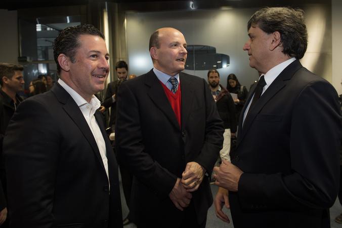 Abertura oficial da Expoagas 2018. Na foto: presidente da CMPA (c), vereador Valter Naglestein, presidente da Agas, Antonio César Longo (d)