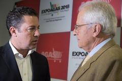 Abertura oficial da Expoagas 2018. Na foto: presidente da CMPA (c), vereador Valter Naglestein, vice-governador José Paulo Cairolli