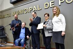 Homenagem à FEAPAES-RS na Semana Municipal da Pessoa com Deficiência.