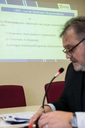 Audiência Pública para apresentação da LDO 2019. Na secretário Paulo de Tarso (Planejamento)