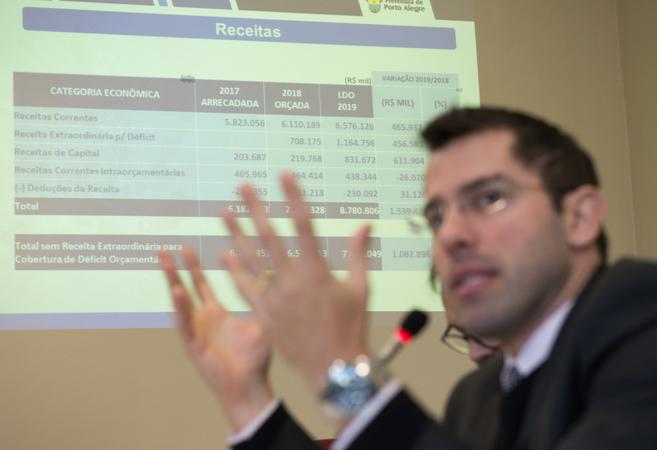 Audiência Pública para apresentação da LDO 2019. Na foto: secretário  Leonardo Busatto (Fazenda)