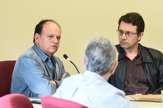 Reunião da comissão para discutir planos de saúde. Na foto, vereadores João Bosco Vaz e Professor Alex