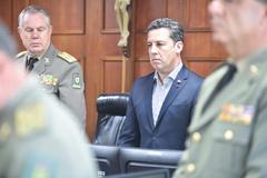 Sessão Solene em Homenagem Póstuma aos Magistrados Tribunal de Justiça Militar RS. Na foto, o presidente Valter Nagelstein.