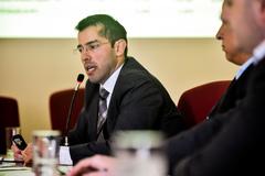 Audiência pública na comissão para demonstrativo de situação da PMPA. Na foto, secretário municipal da Fazenda, Leonardo Busatto