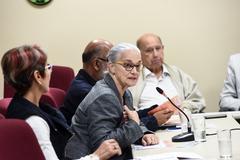 Reunião sobre política de ações culturais para as Pessoas idosas em Porto Alegre. Na foto, representante do Conselho Municipal do Idoso (Comui)