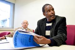 Apresentação do relatório das atividades da Comissão no primeiro semestre de 2016. Na foto, vereadores Reginaldo Pujol e Tarciso Flecha Negra.