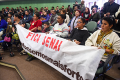 Comunidade da Restinga lotou o Plenário Ana Terra em Audiência Pública que forçou o Senai a encaminhar minuta ao Executivo