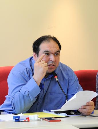 Reunião da Comissão de Constituição e Justiça. Na foto, o presidente da CCJ, vereador Dr. Thiago Duarte.