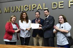 Homenagem  à Escola Municipal de Ensino Fundamental Vereador Carlos Pessoa de Brum, pelo transcurso de seu 30º aniversário.