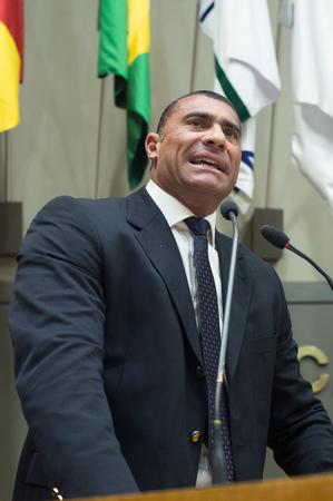 Movimentações de plenário. Na foto, o vereador Rafão Oliveira.
