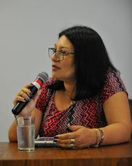 Ação de Reintegração de Posse da Cooperativa 2 de junho. Na foto, a representante da cooperativa, Eliane da Silva dos Santos.