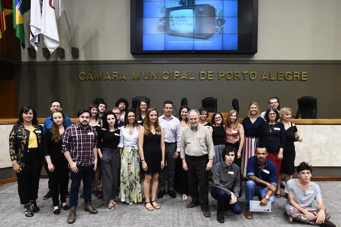 Cerimônia de premiação do 22º Salão de Artes Plásticas da  Câmara Municipal de Porto Alegre.