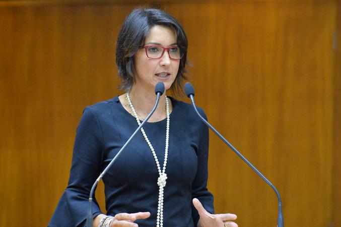 Movimentações de plenário. Na foto, a vereadora Comandante Nádia.
