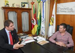Presidente Valter Nagelstein (MDB) recebeu o vereador Márcio Bins Ely(PDT)