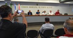 Reunião sobre a infraestrutura e demais serviços na Orla do Guaíba.