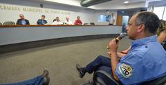 Reunião sobre a infraestrutura e demais serviços na Orla do Guaíba. Na foto, o representante da EPTC, Paulo Ramires.