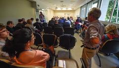 Reunião para debater as feiras orgânicas no município de Porto Alegre.