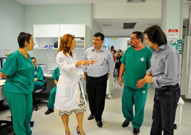 Visita ao Hospital de Pronto Socorro.