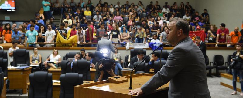 Movimentação de plenario.