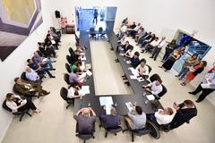 Reunião do colégio de líderes.