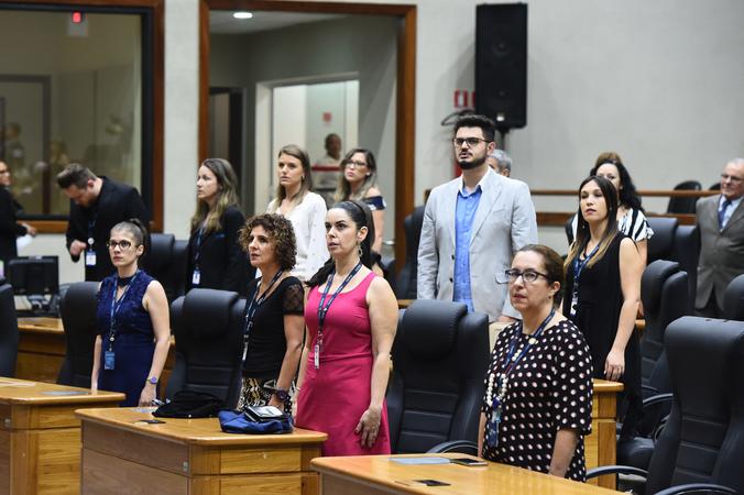 Sessão Solene em homenagem ao transcurso dos 70 anos da Pontificia Universidade Catolica do Rio Grande do Sul (PUC). (Foto: Ederson Nunes/CMPA)