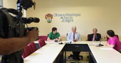 Reunião para debater o custo da segurança em Porto Alegre. Na foto, os vereadores Felipe Camozzato, João Carlos Nedel, Airto Ferronato e a Delegada Cláudia Crusius.