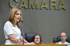 Vereadora Mônica Leal (PP) é a quarta mulher a assumir a presidência da Câmara nos 245 anos da Casa