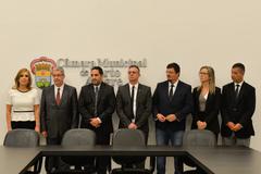 Sob a presidência de Mônica Leal (e), novos diretores integram a gestão 2019 na Câmara