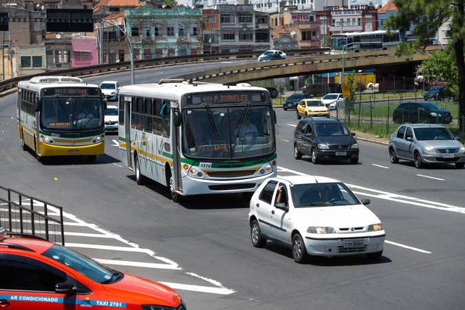 Rodoviária, Trânsito, Mobilidade Urbana, Ônibus, Avenida Mauá, Veppo, Largo Vespasiano Júlio Veppo, Passarela, Viaduto. SFCMPA