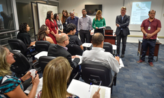 Recepção aos novos funcionarios e gabinetes de vereadores.  Presidente Monica Leal e diretores deram as boas vindas