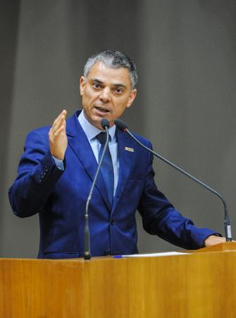 Movimentações no Plenário. Na foto: O Vereador Cassio Trogildo.