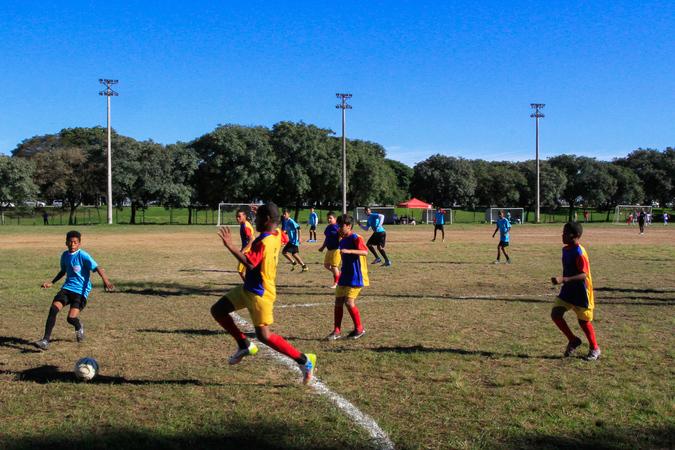 Copinha do Mundo Mirim de Porto Alegre, Campo de Futebol do Parque Marinha do Brasil, Esporte. SFCMPA