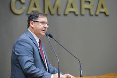 Movimentações de plenário. Na foto, o vereador Hamilton Sossmeier.