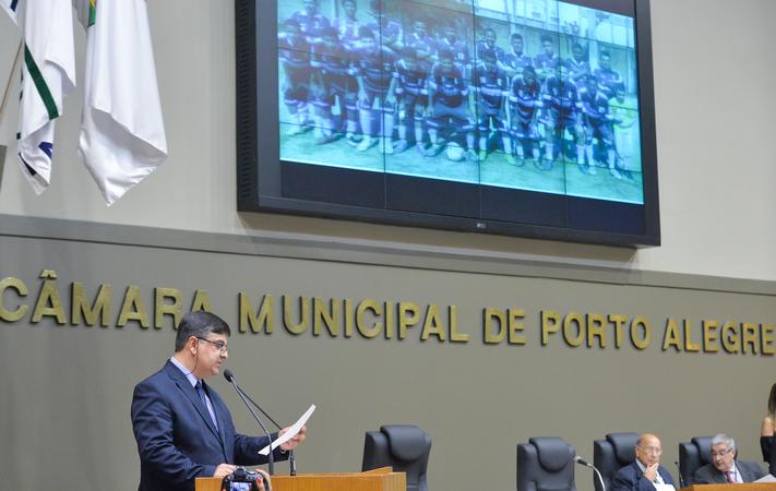 Movimentações de plenário. Na foto, o vereador José Freitas. (Foto: Giulia Secco/CMPA)