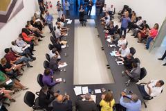 Representação do Simpa esteve presente à reunião e entregou reivindicações sobre a proposta