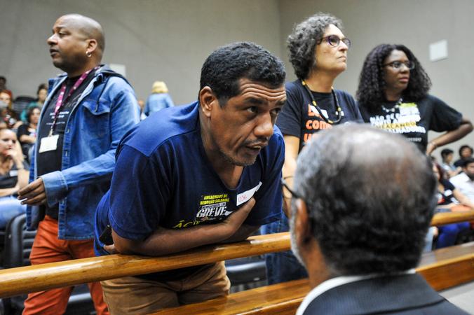 Reunião Conjunta (CCJ/CEFOR/CUTHAB) - Movimentações de plenário. (Foto: Bernardo Speck/CMPA)
