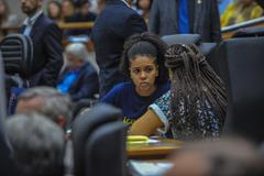 Movimentações de plenário. Na foto, a vereadora Karen Santos.