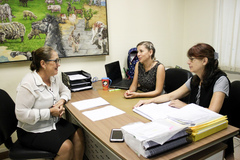 Vereadora Lourdes visita Conselheiras