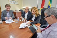 Na foto, a partir da esquerda: Fábio Nyland, Reginaldo Pujol, Mônica Leal e Luis Afonso Peres