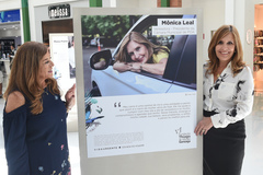 Diza Gonzaga e Mônica Leal na abertura da mostra
