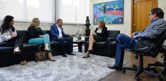 Presidente recebeu integrantes da CDL na tarde desta segunda-feira