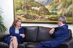 Vereadora Mônica esteve na tarde desta terça-feira com Pietroski no TCE