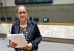 Vereadora Lourdes no Plenário Otávio Rocha