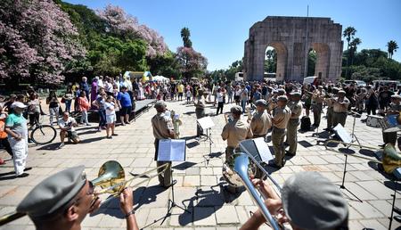 Comemoração teve por local o Largo do Expedicionário