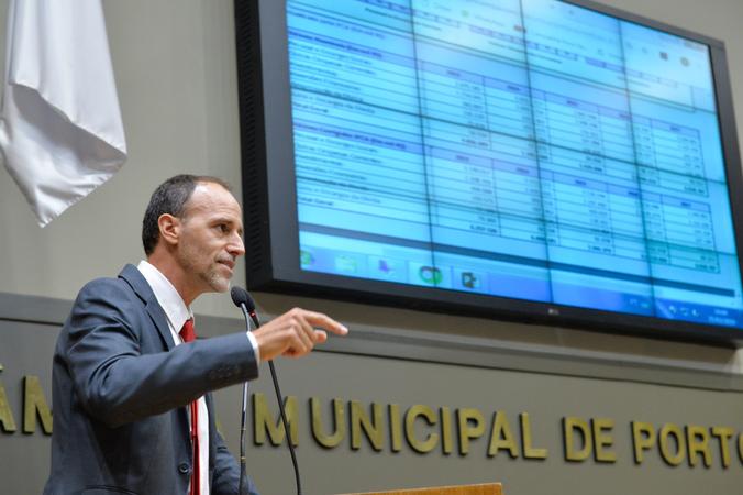 Movimentações de plenário. Na foto, o vereador Marcelo Sgarbossa